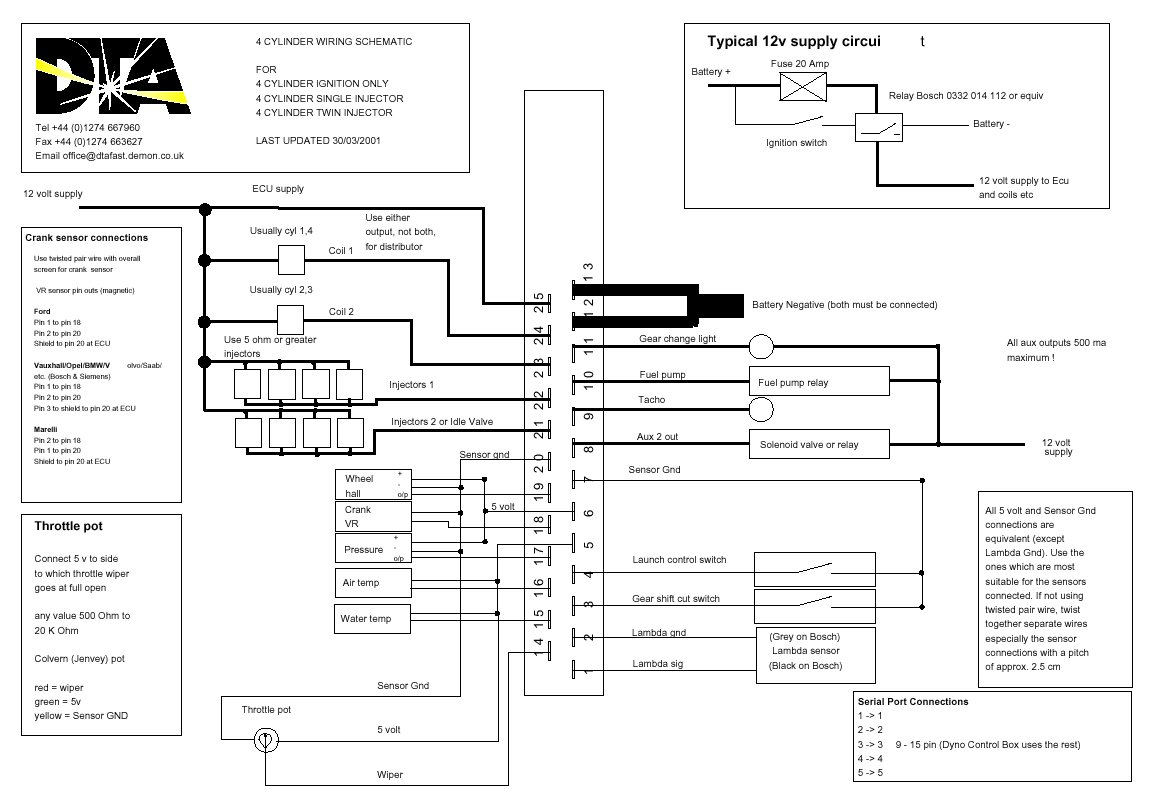 Dta Engine Managment Instalation On Escort Rst Bosch Oxygen Sensor Wire Diagram This Is The Connection For Ecu Details